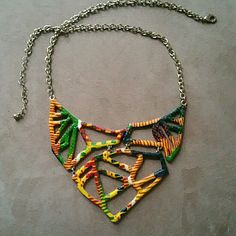 Kente Cloth Necklace Handmade Handmade Jewelry Necklaces