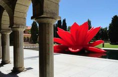 Giant Floral Inflatables - The Choi Jeong Hwa Breathing Flower Installation is Bright