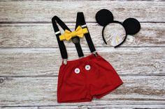 Cumpleaños Mickey Mouse traje chicos chicos por JillyBeansCreation