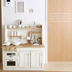 Home Decoration With Paper Craft Diy Kids Kitchen, Kitchen Sets, Ikea Kitchen, Toy Rooms, Kids Decor, Home Decor, Shop Interiors, Kid Spaces, Kids Furniture