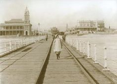 Glenelg Jetty in South Australia in 1883.