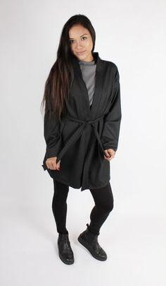 Long Kimono Blazer Dark