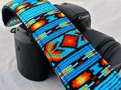 Navajo Style dslr camera strap by FunkyMutt on Etsy, $24.99