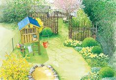 Spielgarten und Nutzgarten