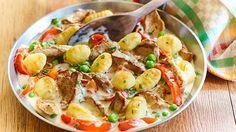 Gnocchi mal anders? Kein Problem! Mit zarten Filetstreifen sind die kleinen Kartoffelklöße in bester Gesellschaft.