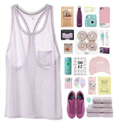 """""""savor every moment slowly"""" by via-m ❤ liked on Polyvore featuring H&M, Victoria's Secret, S'well, adidas, Nikon, Polaroid, NARS Cosmetics, Christy, Fujifilm and Maybelline"""