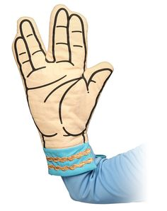 ThinkGeek : Star Trek Spock Oven Mitt. Need to get this for my dad!