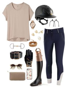 """""""It's all alright"""" by thoroughbredwonder ❤ liked on Polyvore featuring Uniqlo, FOSSIL, Roeckl, Tomas Maier, Tiffany & Co., Aurélie Bidermann, Chan Luu, Ray-Ban and Hermès"""