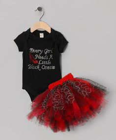 Take a look at this Black & Red 'Every Girl Needs' Bodysuit & Tutu - Infant by Brookie Jos & Baby Lace Rompers on #zulily today!