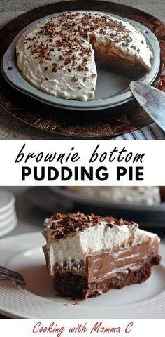 Dessert Dips, Pie Dessert, Dessert Kabobs, Breakfast Dessert, Homemade Chocolate Pudding, Chocolate Pies, Chocolate Brownies, Desserts With Chocolate Pudding, Best Chocolate Pie Recipe
