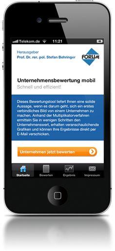 Unternehmensbewertung mobil für iPhone und iPad