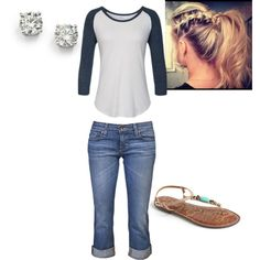 """""""Day at the ballpark"""" by abbyd23 on Polyvore"""