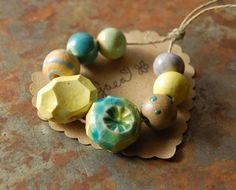 Gaea Ceramic Bead and Art Studio Blog: Gem Cuts and Polka Dots and Stripes! OH MY! gaea.cc