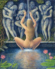Сексуальные картины Mark Henson. Эротическая духовная живопись.