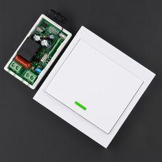 AC 220 V Empfänger Drahtlose Fernbedienung Switch Wall Panel Fernsender Halle Schlafzimmer Deckenleuchten Wandleuchten Wireless TX