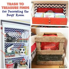 Trash to Treasure Decorating {in the Boys' Bedroom} - The Happy Housie