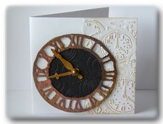 Tim Holtz Weathered Clock Die