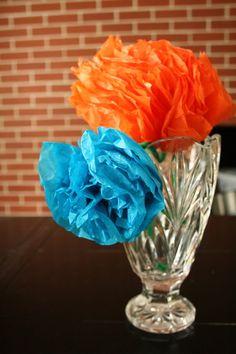 tissue paper flowers (easy)