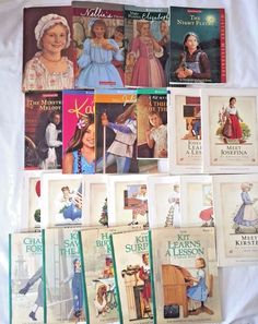 Huge American Girl Book Lot of 22 Mixed Books Hardcover Softcover Doll Collector