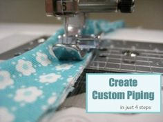 Custom Piping in 4 simple steps - The Sewing Loft
