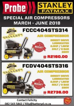 Introducing our new range ofStanley Air Compressors