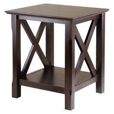 """Xola End Table - Cappuccino     http://www.target.com/p/xola-end-table-cappuccino/-/A-12311275#    22.0 """" H x 20.0 """" W x 18.0 """" D"""
