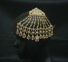 Wedding Wear Hair Decoration Jhoomar South Indian Jewelry Kundan Cz Passa Tikka
