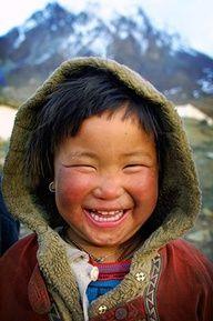 Tibet. Beautiful smile...again please......!!!