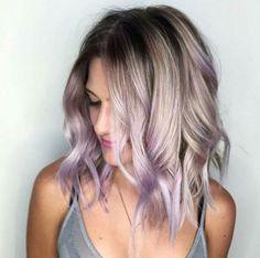 ... | Lavender hair highlights,