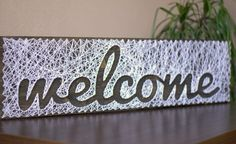 String art Sign Welcome
