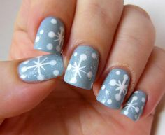 Snowflake Nail Art Photo:  This Photo was uploaded by didmynails. Find other Snowflake Nail Art pictures and photos or upload your own with Photobucket f...