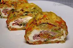Plněná zeleninová roláda recept - Labužník.cz Cabbage, Food And Drink, Pizza, Bread, Vegetables, Recipes, Detail, Brot, Recipies