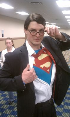 New york comic con needs a drinking game pinterest comic con clark kent costume maybe for mike and me dressed as supergirl solutioingenieria Gallery