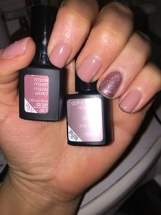 """Sensationail """"Mauve Maven"""" and """"going for rose gold"""" combination. I love this gel polish!"""
