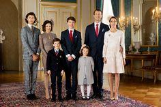 Danish royal family:Prince Joakim with wife Marie and 2 chn Henrik and athena plus ex wife Alexandra and 2 chn Nikolai and Felix
