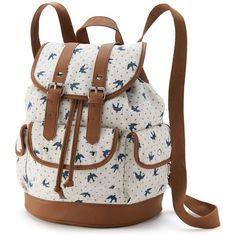 Candie s Ella Dots  amp  Birds Cargo Backpack (Blue Bird Print) ( 15) e86fc15ec013c