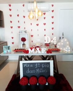 Anniversary Photos, Wedding Anniversary, The Home Edit, Anniversary Decorations, Mother's Day Diy, Diy Crafts For Kids, Birthdays, Valentines, Table Decorations