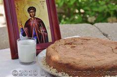 Saint Fanourios Cake - Recipe for Fanouropita: An Offering Cake in Honor of Saint Fanourios - Patron Saint of Lost Items