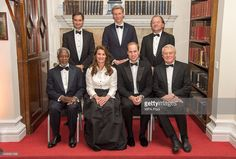Robin Niblett, Harry Brekelmans, Stuart Popham, Melinda Gates, Prince William,Duke of Cambridge and Lord Paddy Ashdown pose for a picture at the RUSI Chatham House Prize 2014 presentation in the Banqueting House on November 21, 2014 in London, England.