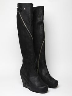 Rick Owens black boots that look good with everything