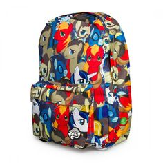 My Little Pony Backpack Bag Licensed All Over Print Retro Multi Character NEW!  #Loungefly