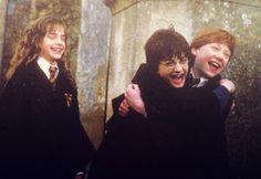 Hermione, Harry, & Ron.