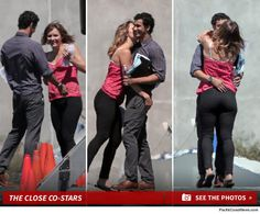 "Katharine McPhee can't keep her hands off her new show's leading man.  McPhee was on set Thursday getting handsy with Elyes Gabel, her co-star in the upcoming CBS series, ""Scorpion."""