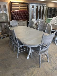 Table And Six Chairs Shabby Chic DiningTable