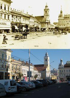Kolozsvar - Cluj - Klausenburg 1936 & Now Photo Corners, Interesting Buildings, Budapest Hungary, Scenery, Louvre, The Incredibles, Architecture, City, Places