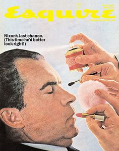 A classic composite cover satirising Nixon in his run up to the 1968 election.