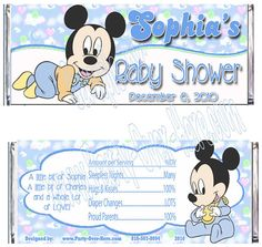 Baby Mickey Mouse Baby Shower Disney by PartyOverHereEtsy on Etsy, $19.80