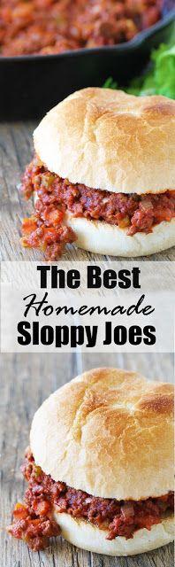 The Best Homemade Sloppy Joes Ever