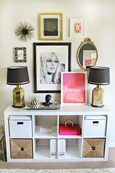 Glam and girly gallery wall