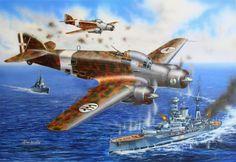 SM.79 attacking to Barham - Kostas Kavvathias